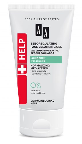 Seboregulating face cleansing gel