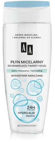 Płyn micelarny do demakijażu twarzy i oczu, cera mieszana/ normalna