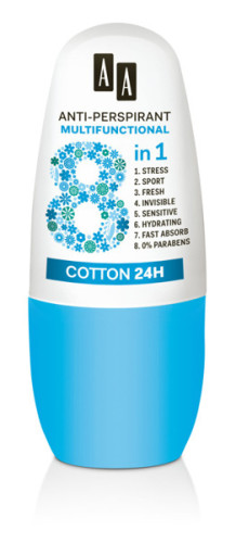 Anti-Perspirant Multifunctional 8 in 1 Cotton 24 h