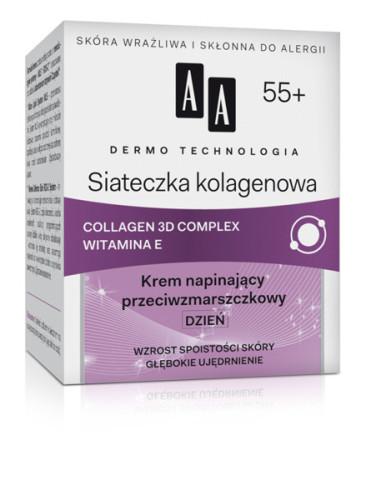 Siateczka kolagenowa 55+ Krem napinający przeciwzmarszczkowy DZIEŃ