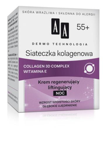 Siateczka kolagenowa 55+ Krem regenerujący liftingujący NOC