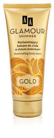 Rozświetlający balsam do ciała ze złotymi drobinkami GOLD