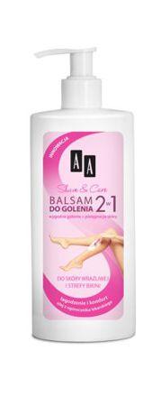Balsam do golenia 2w1 do skóry wrażliwej i strefy bikini z olejem z ogórecznika lekarskiego