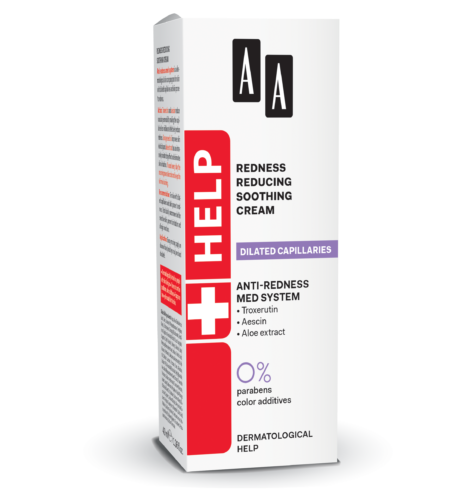 Redness reducing soothing cream