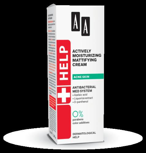 Actively moisturizing mattifying cream