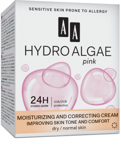 Moisturizing and correcting cream improving skin tone pore reducing combination/normal skin day