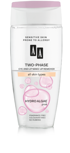 Two-phase eye and lip make-up remover all skin types