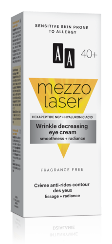 Wrinkle decreasing eye cream smoothness + radiance