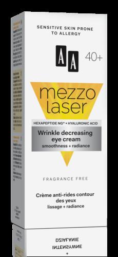 Wrinkle decreasing eye cream smoothness + radiance