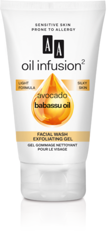 Facial wash exfoliating gel