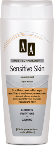 Soothing micellar eye and face make-up remover