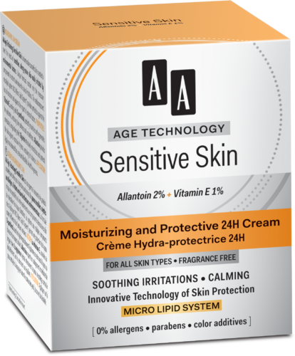 Moisturizing and protective 24h cream