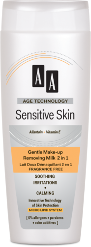 Gentle make-up removing milk 2 in 1