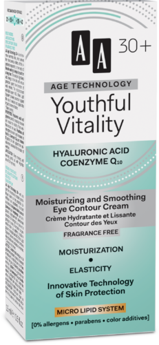 Youthful Vitality Moisturizing and smoothing eye contour cream