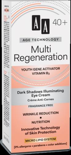 Multi Regeneration Dark shadows illuminating eye cream