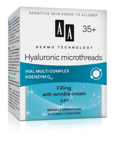Hyaluronic microthreads 35+ filling anti-wrinkles cream day, wrinkle smoothing intense hydration
