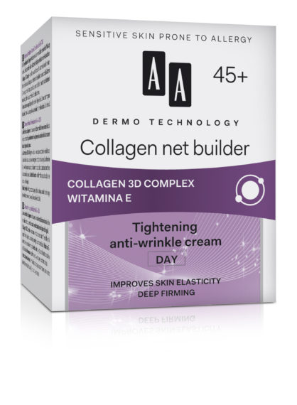Collagen net builder 45+ tightening anti-wrinkle cream day improves skin elasticity deep firming