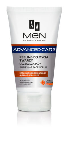 AA MEN ADVANCED CARE Purifying face scrub 150 ml