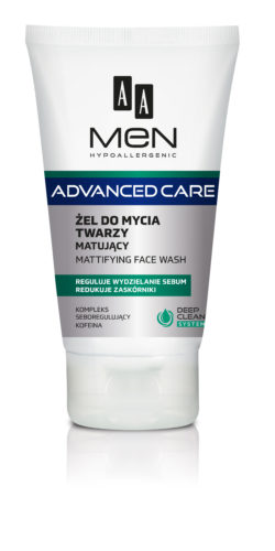 AA MEN ADVANCED CARE Mattifying face wash 150 ml