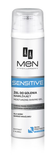 AA MEN SENSITIVE Moisturizing shaving gel, 200 ml