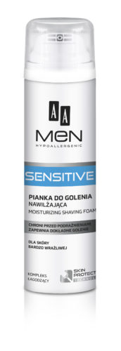 AA MEN SENSITIVE Moisturizing shaving foam, 250 ml