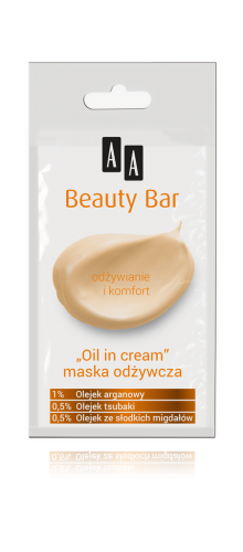 "AA BEAUTY BAR Maska ""oil in cream"" odżywcza, 8 ml"