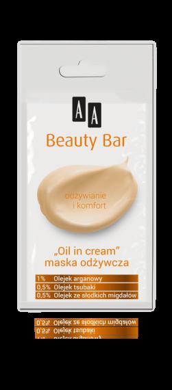 "AA BEAUTY BAR Maska ""oil in cream"" odżywcza, 8 ml"