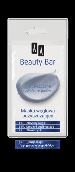 AA BEAUTY BAR Maska węglowa oczyszczająca, 8 ml