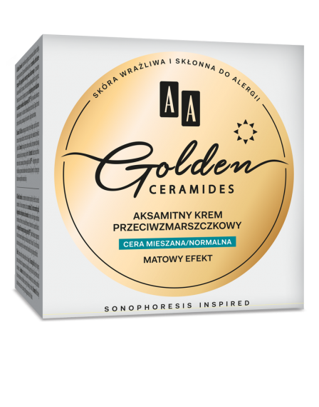 AA Golden Ceramides Velvet anti-wrinkle day cream, combination/normal skin, 50 ml