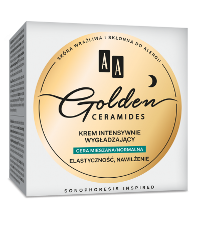 AA Golden Ceramides Intensive smoothing night cream, combination/normal skin, 50 ml