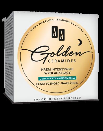 AA GOLDEN CERAMIDES krem intensywnie wygładzający na noc cera mieszana/normalna, 50 ml