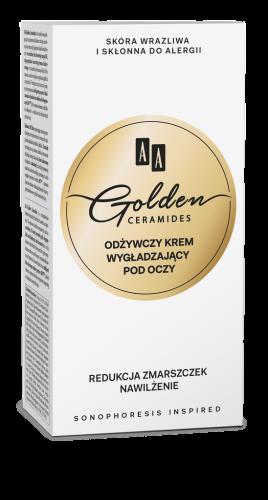 AA GOLDEN CERAMIDES odżywczy krem wygładzający pod oczy, 30 ml