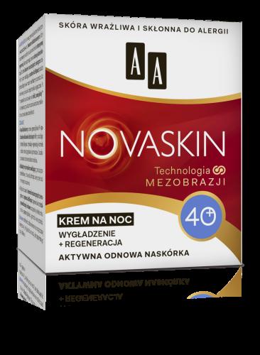 AA NOVASKIN 40+ krem na noc wygładzenie+regeneracja, 50 ml