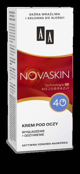 AA NOVASKIN 40+ krem pod oczy wygładzenie+odżywienie, 15 ml