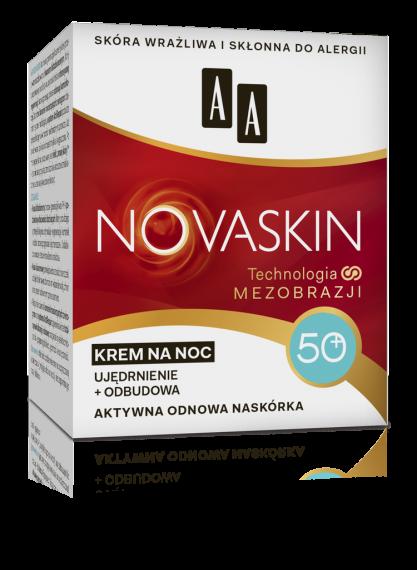 AA NOVASKIN 50+ krem na noc ujędrnienie+odbudowa, 50 ml