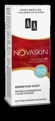 AA NOVASKIN 50+ krem pod oczy redukcja zmarszczek+elastyczność, 15 ml