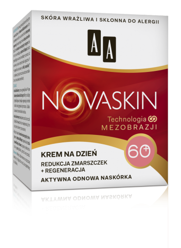 AA NOVASKIN 60+ krem na dzień redukcja zmarszczek+regeneracja, 50 ml