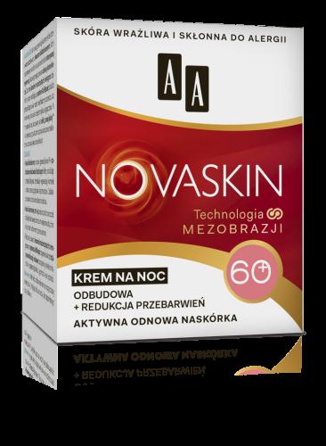 AA NOVASKIN 60+ krem na noc odbudowa+redukcja przebarwień, 50 ml