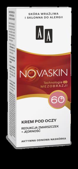 AA NOVASKIN 60+ krem pod oczy redukcja zmarszczek+jędrność, 15 ml
