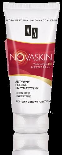 AA NOVASKIN aktywny peeling enzymatyczny eksfoliacja+nawilżenie, 75 ml