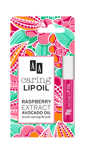 AA CARING LIP OIL Raspberry, 6 ml