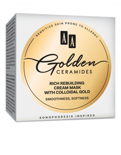 AA Golden Ceramides Rich rebuilding cream mask with colloidal gold, 50 ml