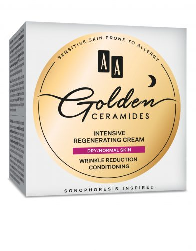 AA Golden Ceramides Intensive regenerating night cream, dry/normal skin, 50 ml