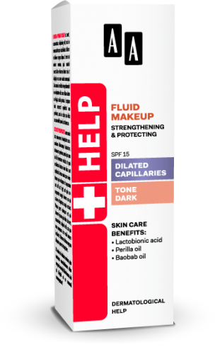 AA Help Fluid makeup strengthening & protecting SPF 15