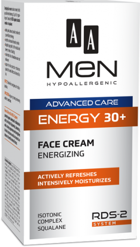 AA MEN ADVANCED CARE ENERGY 30+ Face Cream Energizing 50 ml
