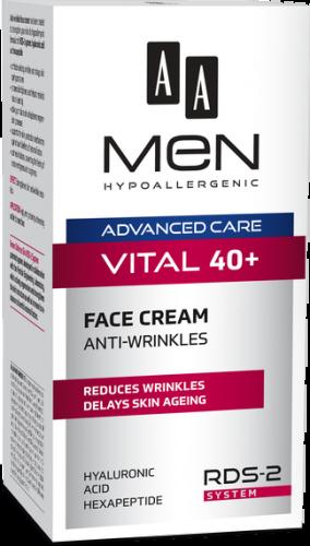 AA MEN ADVANCED CARE VITAL 40+ Face cream anti-wrinkle 50 ml