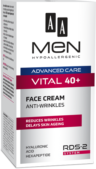 AA MEN ADVANCED CARE VITAL 40+ Face cream anti-wrinkle 50 ml