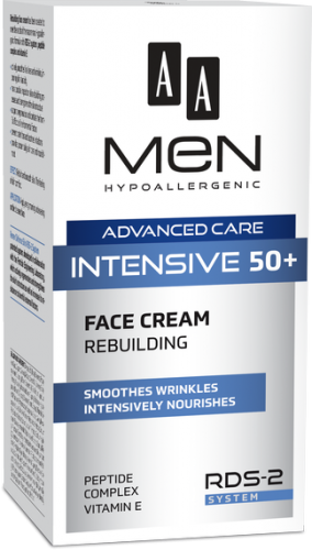 AA MEN ADVANCED CARE INTENSIVE 50+ face cream rebuilding 50 ml
