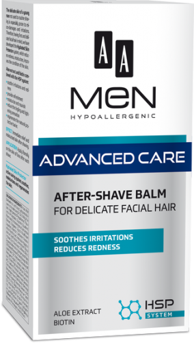 AA MEN ADVANCED CARE After shave balm for delicate facial hair 100 ml