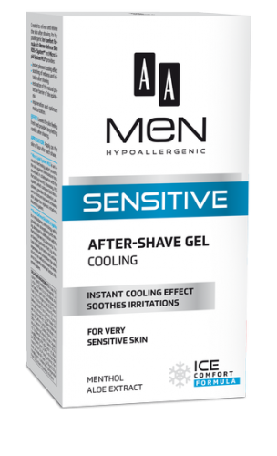 AA MEN SENSITIVE Cooling after-shave gel 100 ml